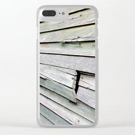 Green Barn Clear iPhone Case