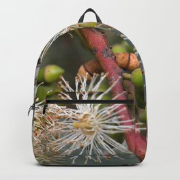 Beautiful white gum blossom Backpack
