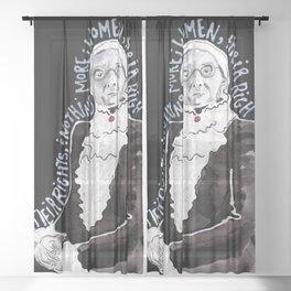 Susan B. Anthony Sheer Curtain