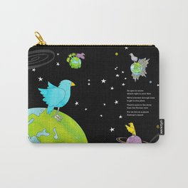 """Floating In Space (from the book, """"You, the Magician"""") Carry-All Pouch"""