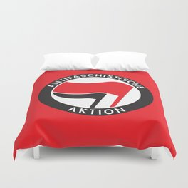 Antifaschistische Aktion Duvet Cover