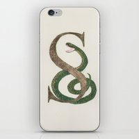 slytherin iPhone & iPod Skins featuring Slytherin Snake by Patty Marq