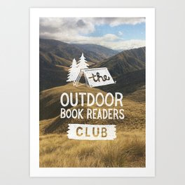 The Outdoor Book Readers Club Art Print