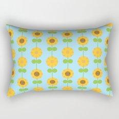 Kawaii Sunflowers Rectangular Pillow