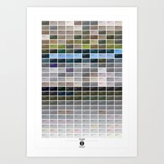 PANTONE glossary - Iceland - Hellnar Art Print