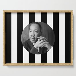 Martin Luther king art work Serving Tray