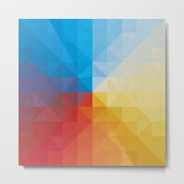 Colored squares and triangles II Metal Print