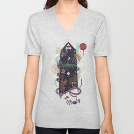 The Ominous and Ghastly Mont Noir Unisex V-Neck