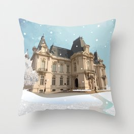 Winter at the Castle Throw Pillow