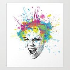 Crazy Colorful Scream Art Print