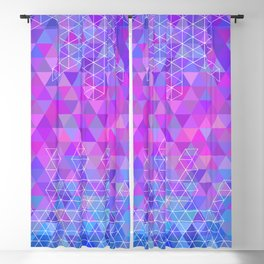 Abstract colorful triangle background Blackout Curtain