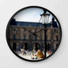 Sparrow at the Louvre Wall Clock