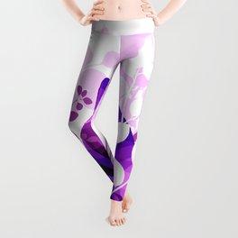 Purple Calico Cat Leggings