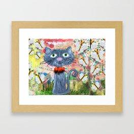 curious kitten Framed Art Print