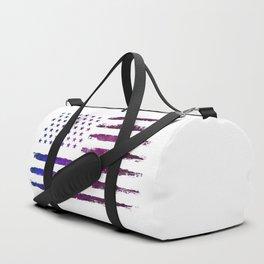 Gradient Grunge American flag Duffle Bag