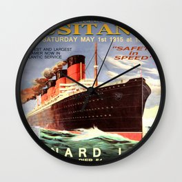 Vintage poster - Lusitania Wall Clock