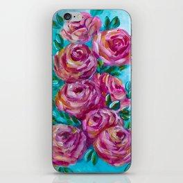 Rose Study in Blue iPhone Skin