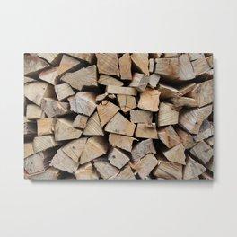 Pile of Wood Metal Print