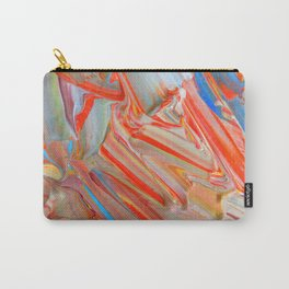 Orange Swirl Carry-All Pouch
