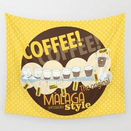 Málaga Coffee Wall Tapestry