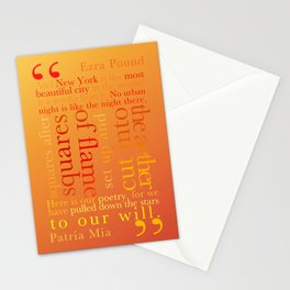 New York Typography Lg-C Stationery Cards