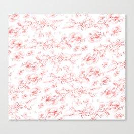 Red pohutukawa pattern Canvas Print