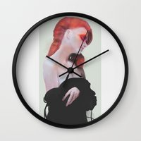 poison ivy Wall Clocks featuring Poison Ivy by Daniel Taylor