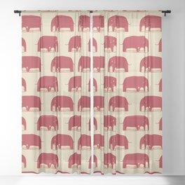 Elephanticus Roomious Sheer Curtain