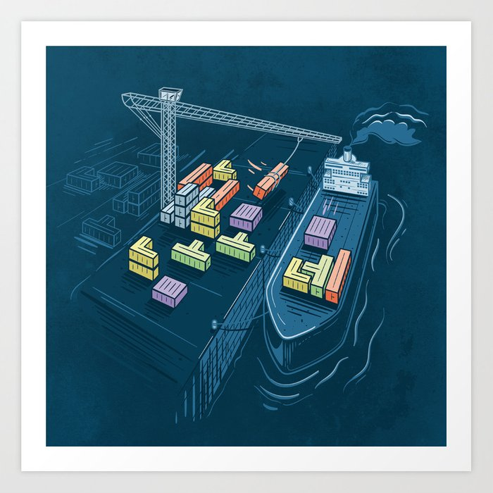 Game Port Art Print