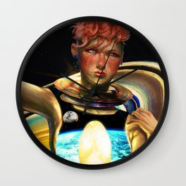 Immigrant to Saturn I Wall Clock