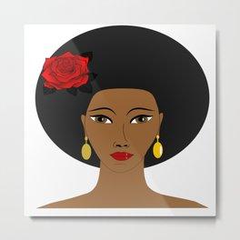 Afro Queen Metal Print