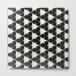 Triad Pattern Black-White Metal Print