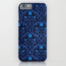 Blue Rose Pattern iPhone Case