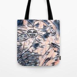 Flower Venom Black and White Tote Bag