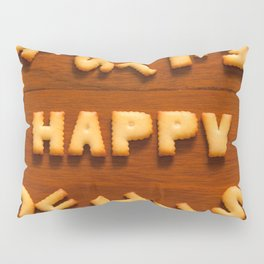 Happy alphabet cracker Pillow Sham