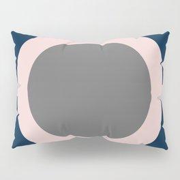 Focus. Minimalist Geometric in Navy Blue, Blush Pink, and Gray Pillow Sham