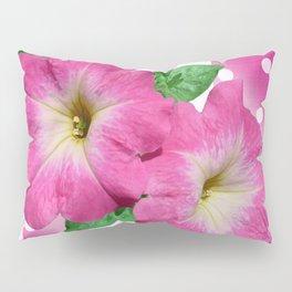 Petunias on Stripes Pillow Sham