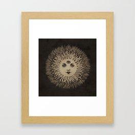 Three Eyed Sun Framed Art Print