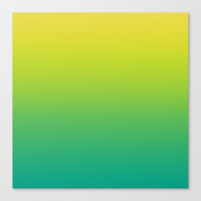 1152535d5d31 Meadowlark, Lime Punch, Arcadia Blurred Minimal Gradient | Pantone colors of  the year 2018 Canvas Print