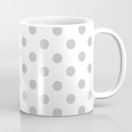 Polka Dots (Gray & White Pattern) Coffee Mug