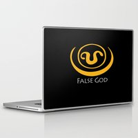 stargate Laptop & iPad Skins featuring False God. Inspired by Stargate SG1 - The symbol of Apophis as worn by Teal'c by hypergeek