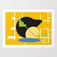 Postmodern fish 2 Art Print