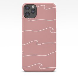 Waves & Lines - Pattern - Dusty Pink iPhone Case