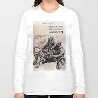 lovecraft Long Sleeve T-shirts featuring Lovecraft Series:  Dunwich Horror by Furry Turtle Creations