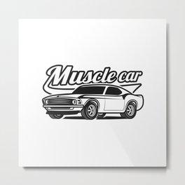 Muscle retro car Metal Print
