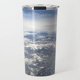 Flying over the Sierra Nevada Mountains Travel Mug