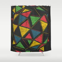 techno Shower Curtains featuring Techno by Sitchko Igor
