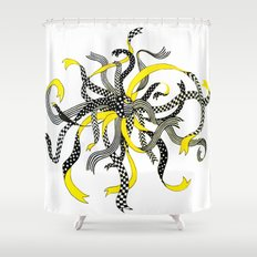 Swirling Ribbons Shower Curtain