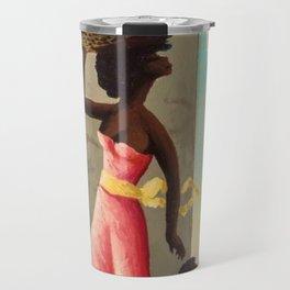 African American Masterpiece 'The Bus Stop' by O. Bulman Travel Mug
