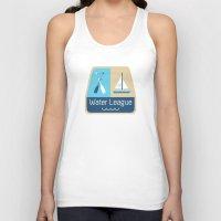league Tank Tops featuring Water League by Julie Pinzur